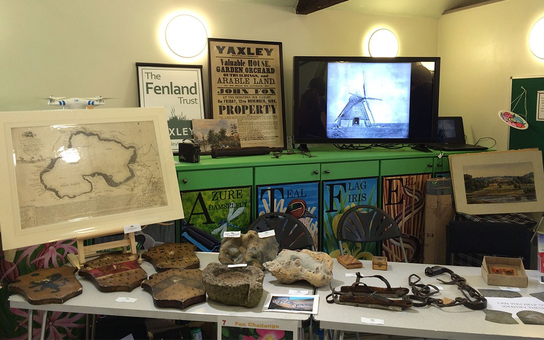 The Fenland Trust displays museum exhibits at Great Fen Community Day