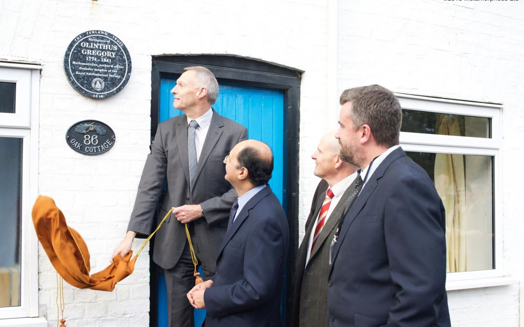 The Fenland Trust unveils heritage plaque at the birthplace of Yaxley mathematician