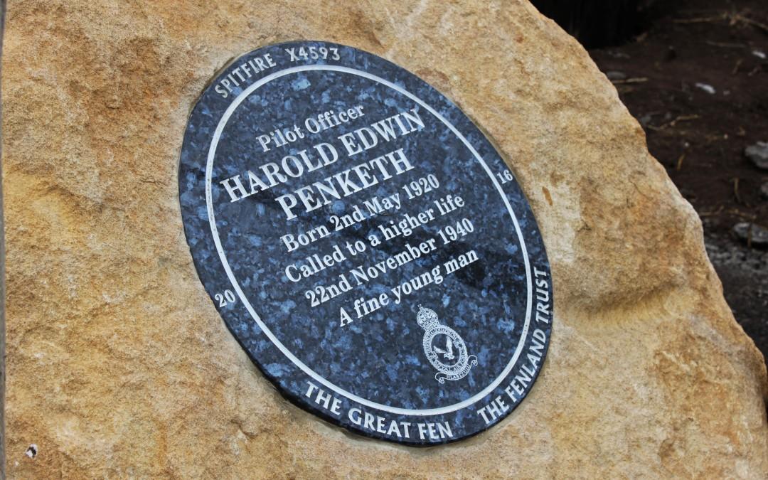 Fenland Trust donates plaque for Harold Penketh memorial